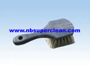 High Quality Plastic Car Tire Cleaning Brush, Car Wheel Brush (CN1820) pictures & photos