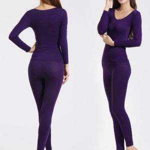 Women′s Modal Long Sleeve Thermal Underwear (002) pictures & photos