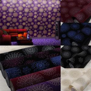 Popular Flocking Fabric Glitter Wallpaper for Wall Decoration (JSL166-002)