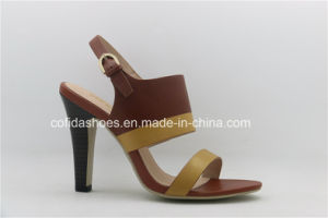 New Fashion Leather High Heels Women Sandals Shoes pictures & photos