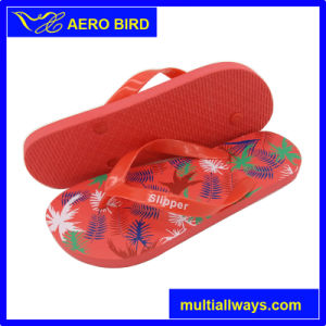 Simple Maple Leaf Women Girls Lovely Beach Slippers pictures & photos