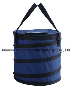 Promotional Navy Blue 600d Polyester Collapsible Insulated Cool Bag pictures & photos
