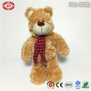 Fluffy Soft Sitting Brown Teddy Bear Plush Toy with Scarf pictures & photos