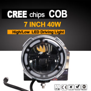 7inch LED Driving Light (Round 40W, High/low Beam, IP67 Waterproof)
