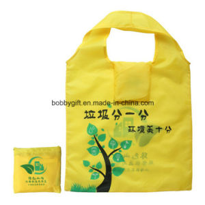 Custom Printed Reusable Folding Polyester Shopping Bag pictures & photos