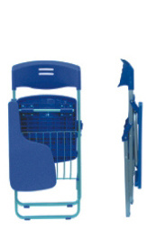 Plastic School Folding Conference Chair with Writing Pad and Bookcase pictures & photos