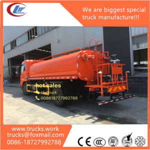 Orange Color 15000liters 4X2 Carbon Steel 4mm Thickness Water Bowser pictures & photos