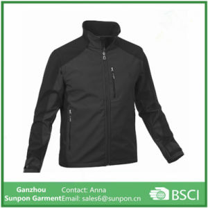 Fashionable Loose Black Men Softshell Jacket pictures & photos