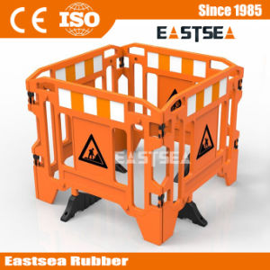 HDPE Plastic Road Gate Work Barrier with Legs pictures & photos