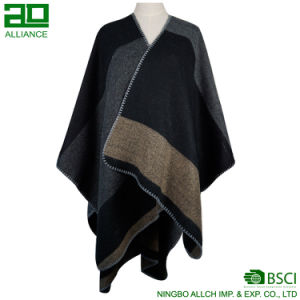 Soft Women′s Wool Comfortable Warm Shawls pictures & photos