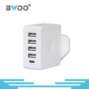 Four USB Wall Charger with UK Us EU Plug pictures & photos