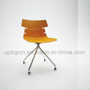 Wholesale Color Customizable Plastic Chair with Chrome Steel Leg (SP-UC495) pictures & photos