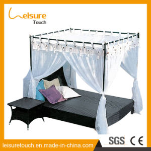 Outdoor Patio Terrace Furniture Rattan Leisure Sofa Rectangular Lying Bed with Mosquito Net pictures & photos