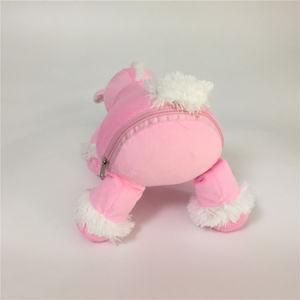 Pink Embroidered Stuffed Plush Soft Toy with Pods Zipper Gift pictures & photos