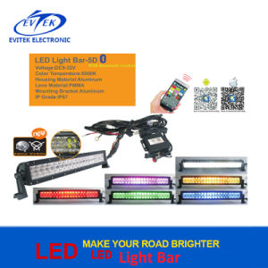 Curved Five Color RGB LED Driving Light Bar Flood & Spot Combo Beam 5D LED Light Bar pictures & photos