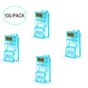 RJ45 Connector /Plug 100-Park RJ45 CAT6 Unshielded Plug Modular 8p8c Patch Cable Connector pictures & photos