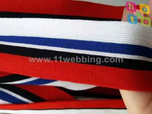 Best Selling Striped Elastic Knitted Webbing for Garment Accessories pictures & photos