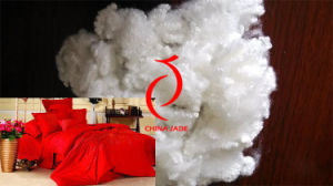 3D 64mm White Virgin Polyester Staple Fiber with Silicon pictures & photos