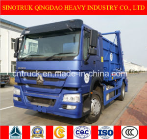 Sinotruk 4X2 Skip Loader Truck, Garbage Truck and Refuse Truck with 12 M3 Box pictures & photos