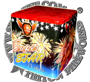 "0.8"" Black Label 25 Shots Cake Fireworks pictures & photos"