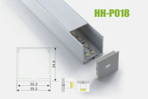 Hh-P018 Surface Mounted LED Aluminum Profiles pictures & photos