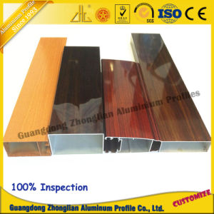 Customized Aluminium Extrusion Profile Electrophoresis Wood Grain for Window Profile pictures & photos