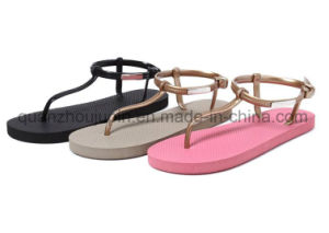 Custom Casual Fashion EVA Beach Ladies Slippers Flip Flop pictures & photos