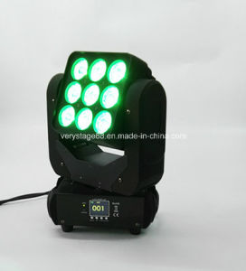 Night Club LED RGBW 9X10W Moving Head LED Matrix Light pictures & photos