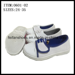 New Children Casual Shoes Injection Canvas Shoes Factory (0601-02) pictures & photos