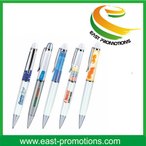 Cute Promotion Liquid Floating Plastic Ball Pen for Child pictures & photos