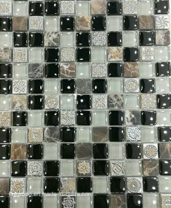 Glass Mosaic Mix with Stone and Resin Jy25k pictures & photos