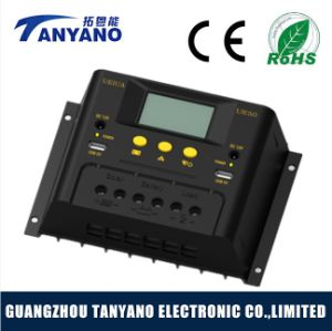 50A Charge Solar System PWM Solar Controller with LCD 48V Auto