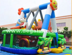 Inflatable Jumping Bouncy Castle, Sunflower Swing Inflatable Pirate Boat