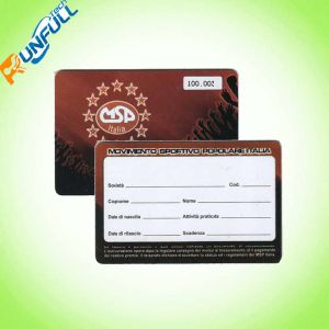 Plastic PVC Membership Card with Clear or White Signature Stripe pictures & photos
