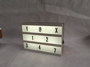 Light up Lighthouse A5 Cinema DIY LED Letter Box pictures & photos