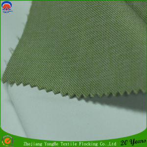 Woven Polyester Curtain Fabric Coating Waterproof Flocking Blackout Fabric pictures & photos