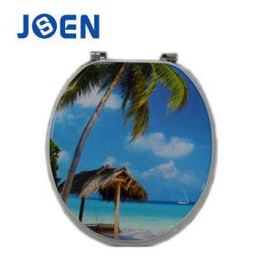 Sea Beach Design Print MDF Wood Toilet Seat pictures & photos