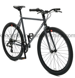 700c 7 Speed Cr-Mo Steel Fixed Gear Bike /Versatile Road Bike for Adult Bike and Student/Road Racing Bike/Lifestyle Bike pictures & photos