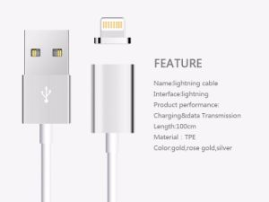 New Arrival Magnetic USB Cable for iPhone/iPad, Magnetic Inductive USB Data Cable for iPhone pictures & photos