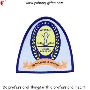 OEM Custom School Woven Badge for Garments (YH-WB066) pictures & photos