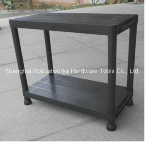 4 Tier Black Plastic Heavy Duty Shelving Racking Storage Unit (6030P-4T) pictures & photos