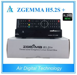 Dual Core Linux Kernel Multistream Decoder Zgemma H5.2s Plus Sat/Cable Receiver DVB-S2+S2/T2/C Triple Tuners pictures & photos