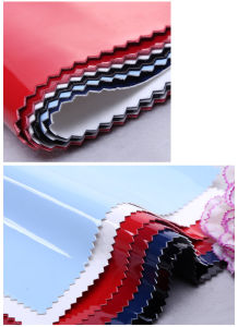 Soft and High Quality Patent Artificial Leather for Shoes, Bags, Furniture, Decoration (HS-Y71) pictures & photos