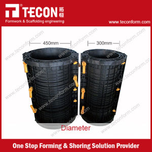 Tecon Plastic Round Column Formwork for Concrete pictures & photos