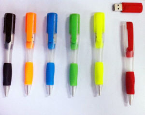 Business Gift Plastic Pen USB Flash Pen Memory USB Stick Key Drive U Disk pictures & photos