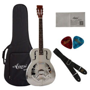 Wholesale Price Metal Body Electric Resonator Guitar pictures & photos