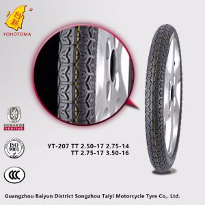 Motorbike Tires with High Rubber Content 250-17 275-14