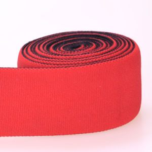 Abrasion Resistance Black Polyester/Nylon/Cotton Strap Elastic with Clips pictures & photos
