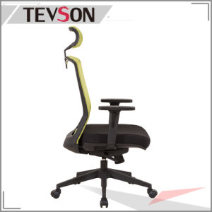 Ciff Show Type Office Mesh High Back Chair with Synchronous Mechanism pictures & photos