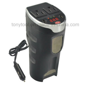 200W Digital Car Power Inverter with 2 AC Outlets pictures & photos